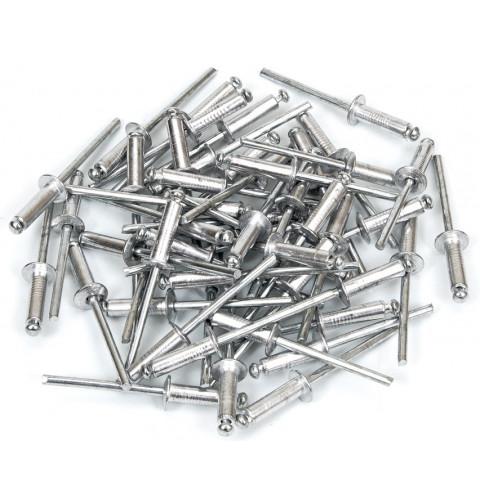 фото Заклепки вытяжные алюминиевые 4 х 12,5 мм Polax (37-010)