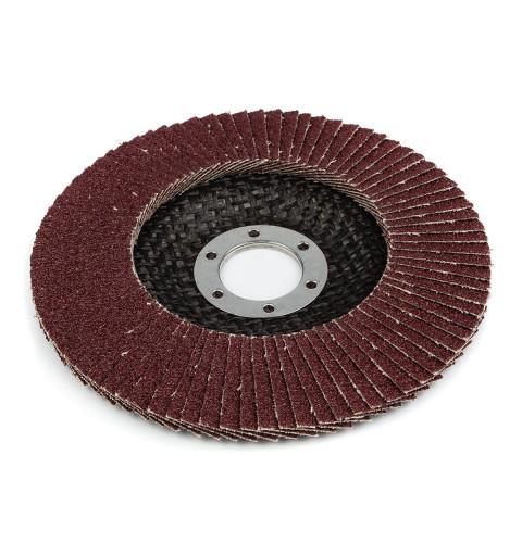 фото Круг (диск) Polax шлифовальный лепестковый для УШМ (болгарки) 125 * 22мм, зерно K80 (54-004)