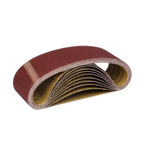 фото Шлифовальная лента бесконечная Polax для ленточных шлифовальных машин 75 * 457 мм зерно К100 (54-011)