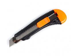фото Нож строительный Polax с выдвижным лезвием усиленный 18 мм (23-002)