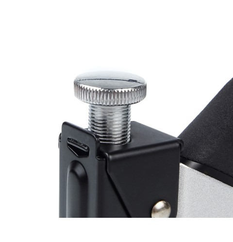 фото Степлер строительный металлический с регулировкой силы удара универсальный Polax 4-14 мм (100 скоб в комплекте) (24-005)