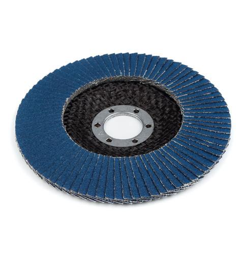 фото Круг (диск) Polax шлифовальный лепестковый для УШМ (болгарки) оксид циркония 125*28 мм зерно K80 (54-092)