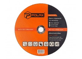 фото Диск Polax абразивный отрезной по металлу 41 14А 230х2,5х22,23 (54-103)