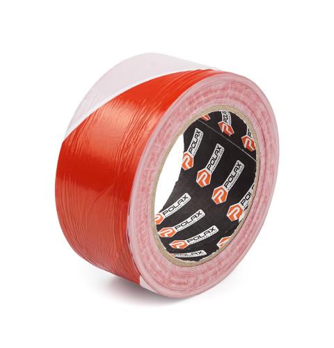 фото Лента сигнальная оградительная Polax 50 мм х 200 м красно-белая (101-042)
