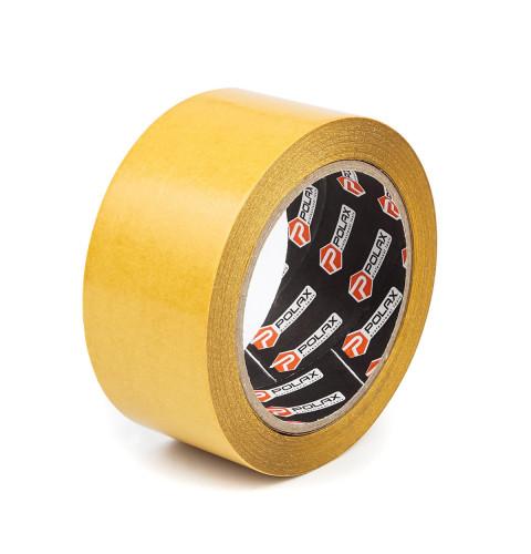 фото Скотч клейкая лента Polax двусторонняя на полипропиленовой основе 50 мм х 25 м (101-003)