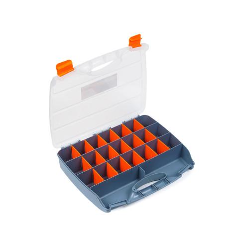 фото Органайзер пластиковый хозяйственный для хранения Polax 21 секция 380х310х70 мм (01-010)