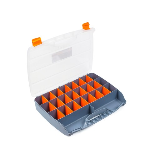 фото Органайзер пластиковый хозяйственный для хранения Polax 24 секции 460х360х80 мм (01-011)