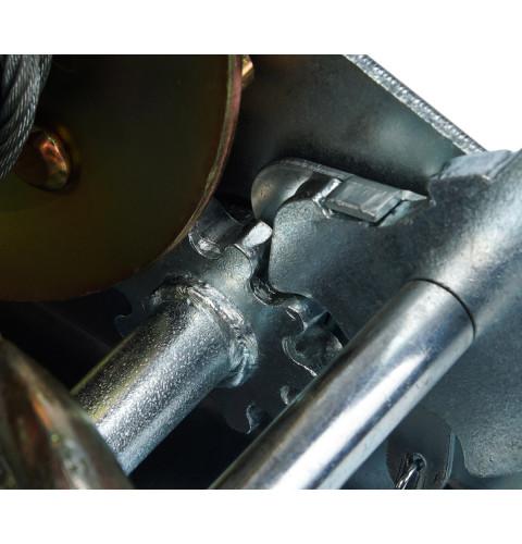 фото Лебедка ручная барабанная тросовая Polax стальной трос 10м 1200 lbs 500 кг (01-002)