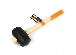 фото Киянка резиновая с деревянной ручкой Polax 65 мм 450 г Черная (39-005)