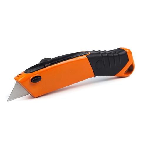 фото Нож строительный трапецевидный Polax с выдвижным лезвием 19 мм (23-007)