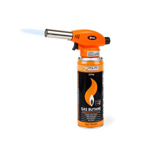 фото Газовая горелка с пьезоподжигом туристическая (для пайки) Polax 1,1 kW, 1300 °C (32-018)