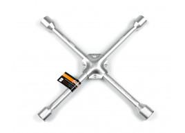 фото Ключ балонный автомобильный крестовой Polax усиленный 350 мм 16 мм,  17 х 19 х 21 х 22 мм (25-074)