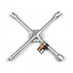 фото Ключ балонный автомобильный крестовой Polax усиленный 350 мм 16 мм,  17 х 19  х 22 мм 1/2