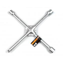 фото Ключ балонный автомобильный крестовой Polax усиленный 350 мм 16 мм,  17 х 19  х 21 мм 1/2