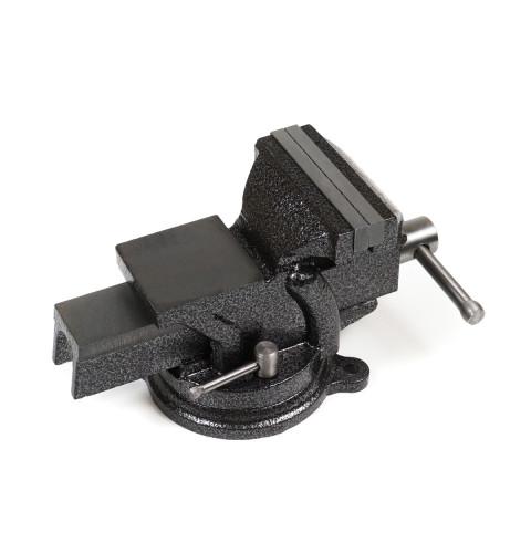 фото Тиски слесарные Polax настольные поворотные 100 мм (25-099)