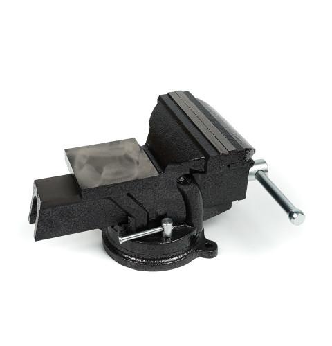 фото Тиски слесарные Polax настольные поворотные 150 мм (25-101)