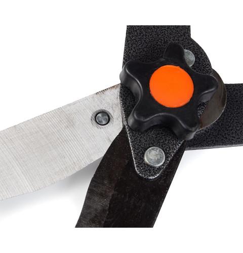 фото Садовые ножницы для стрижки кустарников с телескопической ручкой 660-838 мм волнистые лезвия Polax (70-009)