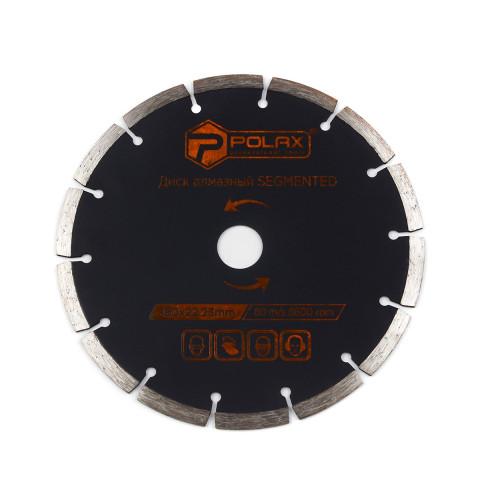 фото Диск алмазный сегментированный Polax 180x7x2.4x22.23, 25% (54-126)