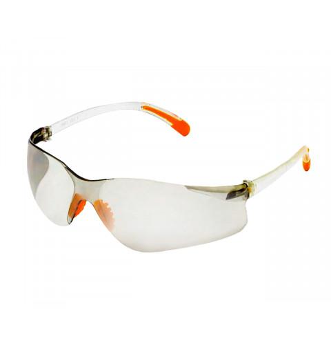 фото Очки защитные оранжевые дужки (53-014)