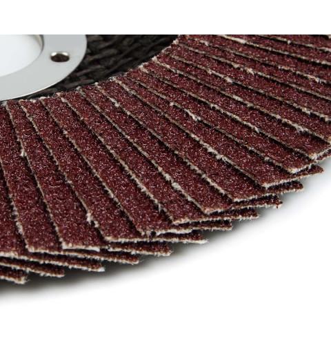 фото Круг (диск) Polax шлифовальный лепестковый для УШМ (болгарки) 125 * 22мм, зерно K36 (54-001)