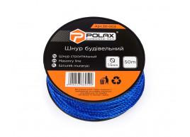 фото Шнур каменщика Polax для строительных работ 1,5 мм х 50 м, синий (30-003)