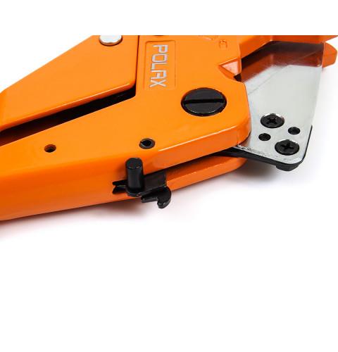 фото Труборез для пластиковых труб Polax ПВХ 3 – 42 мм, толщина лезвия 2,5 мм (25-012)