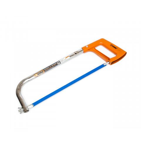 фото Ножовка по металлу с регулировкой длины полотна металлическая ручка Polax 250-300 мм (33-001)