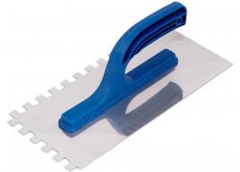 фото Затирка гладилка из нержавеющей стали 130х270 зуб 10 х 10 мм Polax (100-100)