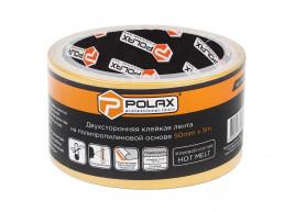 фото Скотч клейкая лента Polax двусторонняя на полипропиленовой основе 50 мм х 5 м (101-001)