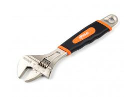 фото Ключ разводной с обрезиненной рукоятью Polax 200 мм (25-018)