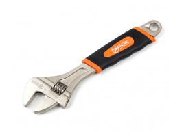 фото Ключ разводной с обрезиненной рукоятью Polax 250 мм (25-019)
