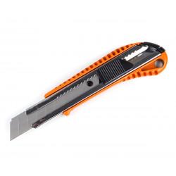 фото Нож строительный Polax с выдвижным лезвием 18 мм авто замок (23-005)