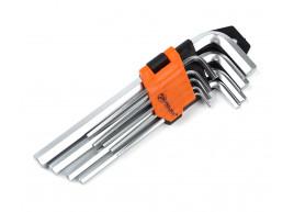 фото Набор шестигранных Г-образных удлиненных ключей Polax 9 предметов, 1.5-10 мм, Cr-V (25-006)