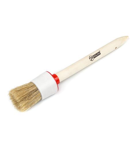 фото Кисть малярная Polax круглая деревянная ручка Стандарт №10 40мм (08-005)