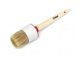 фото Кисть малярная Polax круглая деревянная ручка Стандарт №14 50мм (08-007)
