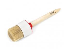 фото Кисть малярная Polax круглая деревянная ручка Стандарт №16 55мм (08-008)