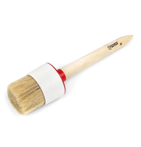 фото Кисть малярная Polax круглая деревянная ручка Стандарт №18 60мм (08-009)