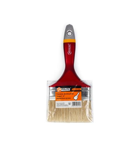 фото Кисть малярная Polax флейцевая деревянная ручка Евро 4