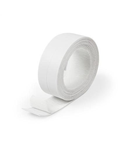 фото Бордюрная лента для ванной герметизирующая Polax 41 мм х 3,2 м Белая (45-002)