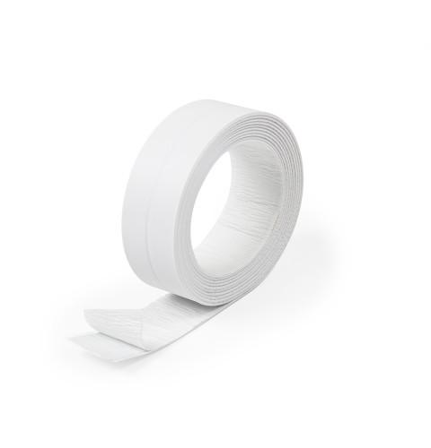 фото Бордюрная лента для ванной герметизирующая Polax 38 мм х 3,2 м Белая (45-004)